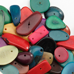 Colourful Tagua Nuts for Early years Sorting Product Photography