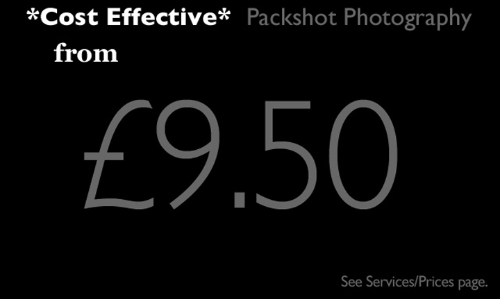Cost Effective Packshots from &pound 9.50