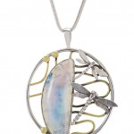 Bespoke Custom Necklace Jewellery Photography with dragon flies and moonstone