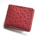 Ostrich Leather Wallet-Leather Goods Photography