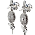 Luxury Silver Propeller Earings - Jewellery Photography