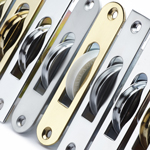 Narrow Sash Window Pulleys Chrome, Satin, Gold, Satin Gold Finish