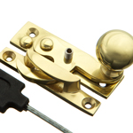 Solid Brass Heritage Locking Sash Fastener